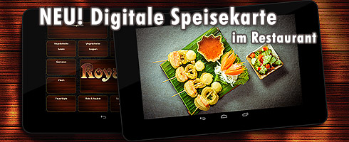 Digitale Speisekarte