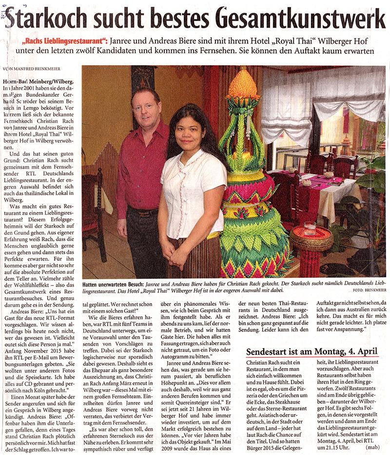Rach im Royal Thai